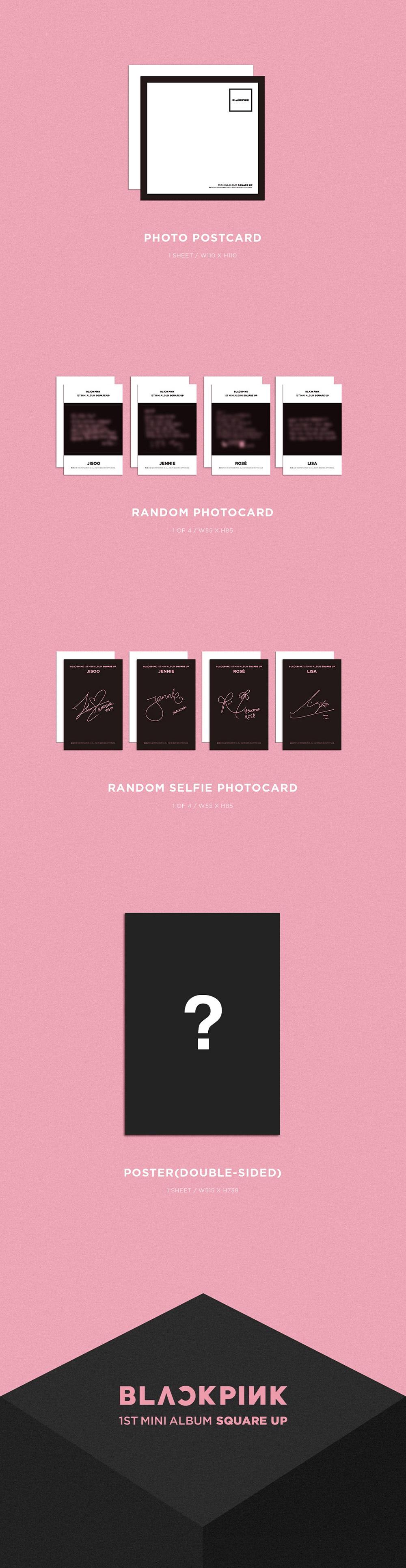 Blackpink 1st Mini Album Square Up Pink Ver Cd Poster