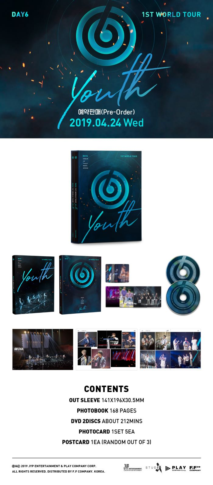 DAY6 1ST WORLD TOUR [YOUTH] DVD (2 DISC)