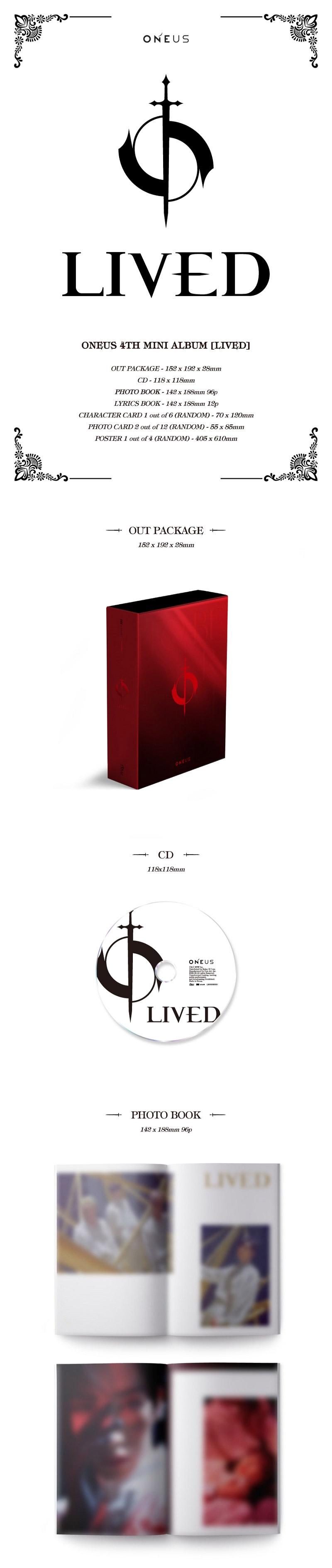 Oneus Lived Album OT6 Display