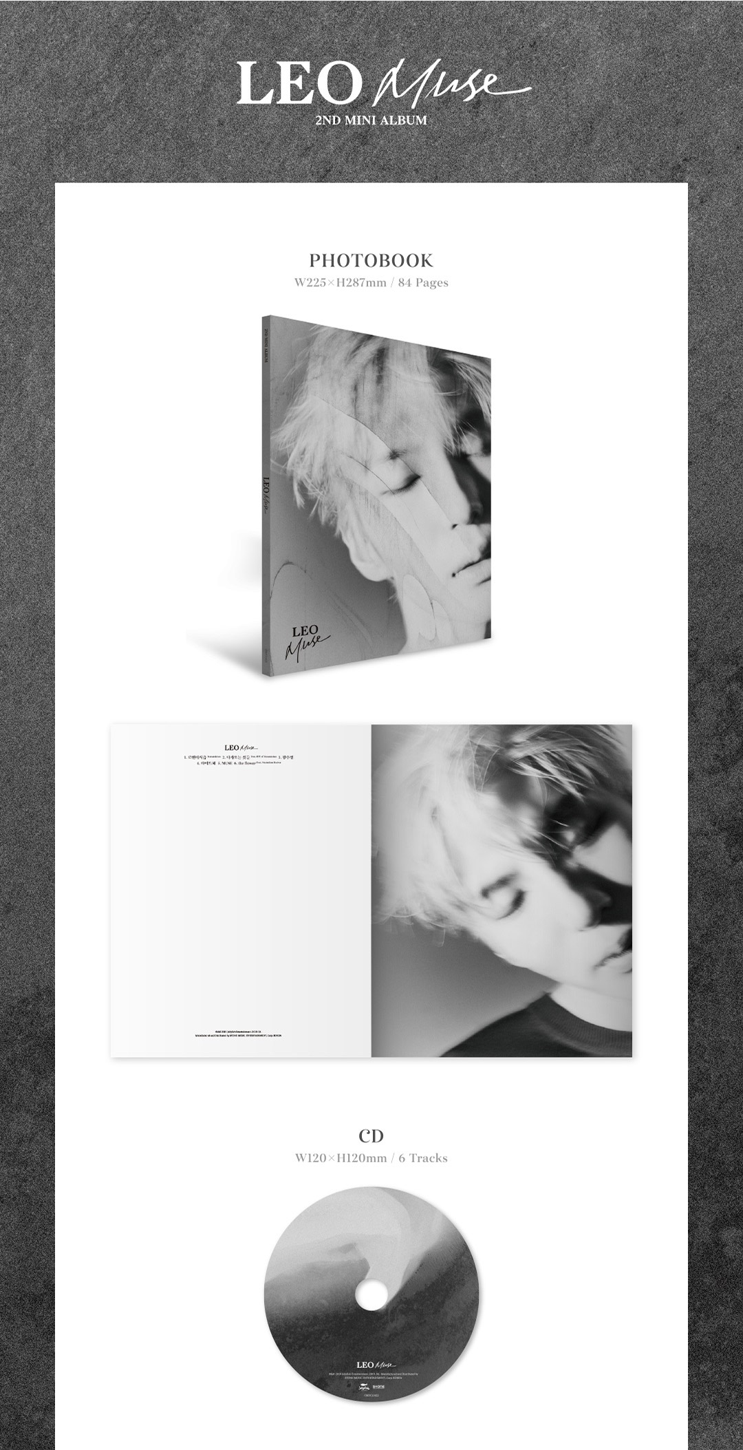 VIXX LEO 2nd Mini Album - MUSE CD + Poster