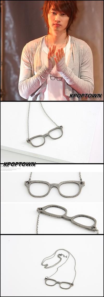 SJ12]Superjunior Super Junior EunHyuk Glasses Necklace