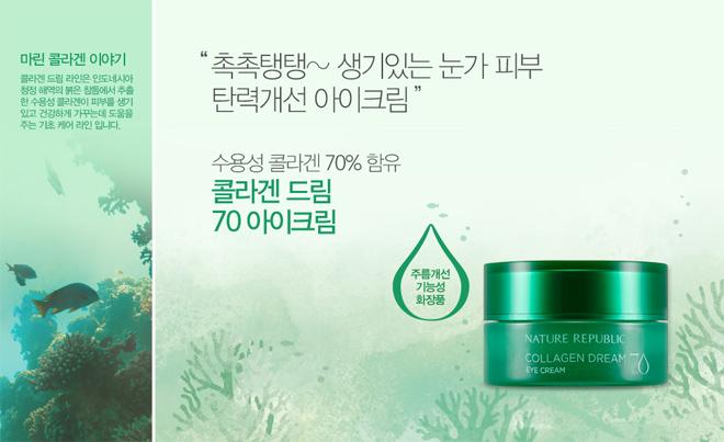 Kết quả hình ảnh cho Nature Republic Collagen Dream Eye Cream