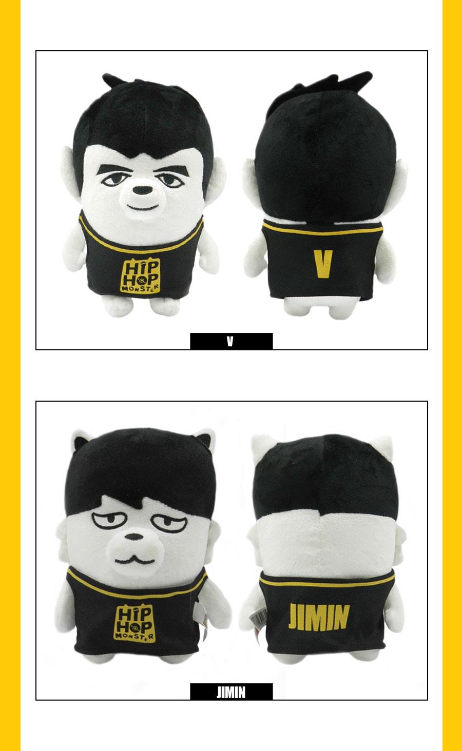 BTS HIPHOP MONSTER Plush doll