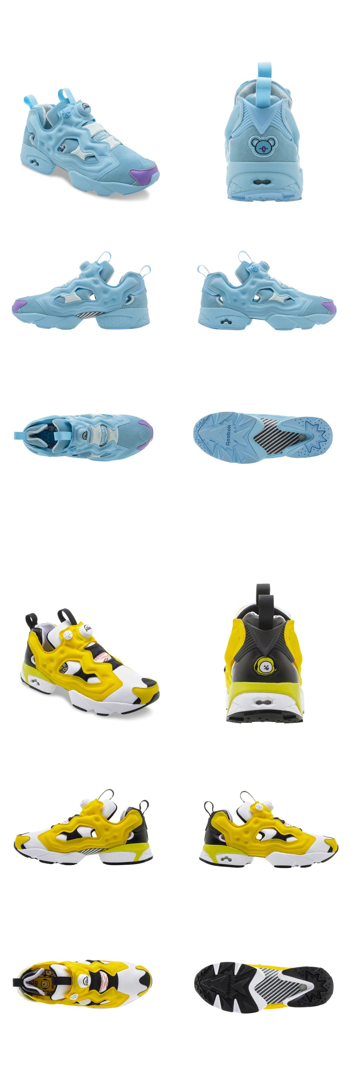 225d4dd08c43c  BT21  Reebok Collaboration - INSTAPUMP FURY OG MU. Product Information. -  Material   Polyester. Detail View